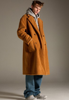 Anderssonbell앤더슨벨 TEDDY BEAR WOOL DOUBLE COAT awa174w(CAMEL BROWN)
