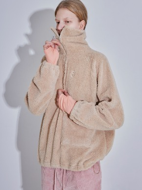 More or Less모어올레스 SHEARING ANORAK - BEIGE