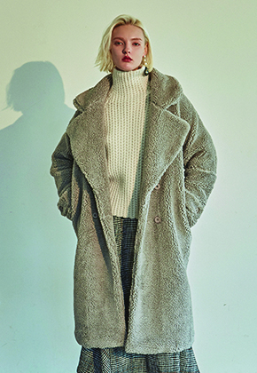 Deans딘스 [DEANS] WARM DUMBLE LONG COAT_GRAY