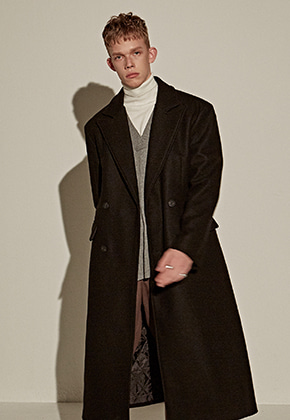 Yan13얀써틴 SPECIAL REGULAR DOUBLE LONG COAT_BLACK