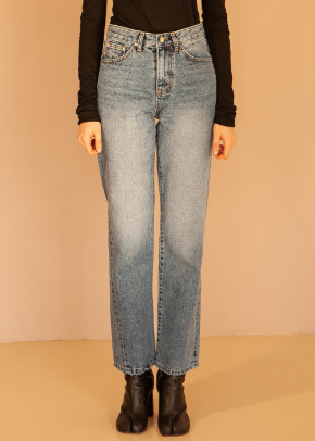 Decolor디컬러 Unbalance Twist Denim -Indigo-