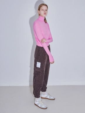 More or Less모어올레스 SOFT WARMMER TURTLENECK TOP - PINK