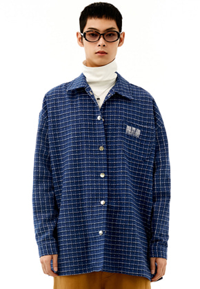 INNER CITY AUDIO이너시티오디오 (FAMILY EVENT) SIGNATURE EMBROIDERY CHECK SHIRT