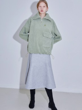 More or Less모어올레스 SHEARING ANORAK - MINT