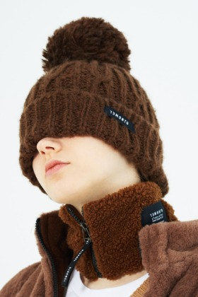 13Month써틴먼스 POMPOM KNIT BEANIE (BROWN)