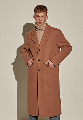 Yan13얀써틴 WOOL OVER STAND LONG COAT_CAMEL