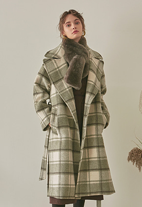 Yan13얀써틴 PREMIUM LLAMA CH LONG COAT_GRAY