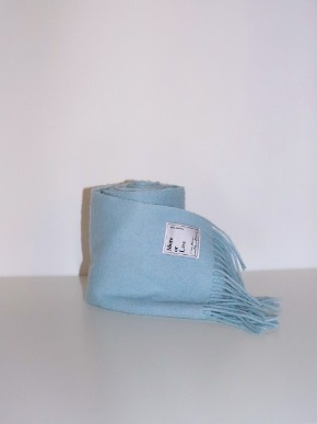 More or Less모어올레스 WOOL MUFFLER - BABY BLUE
