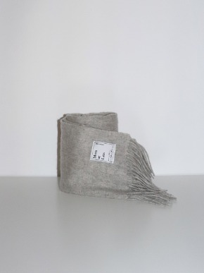 More or Less모어올레스 WOOL MUFFLER - MELANGE GREY