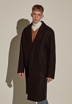Yan13얀써틴 WOOL OVER MIDDLE COAT_NAVY