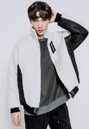 Maedaryuto마에다류토 BOA FLEECE PADDING JACKET - WHITE
