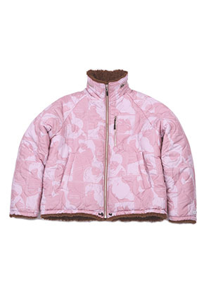 AJO BY AJO FINK LABEL Reversible Manga Fake Fur Jacket [Pink]