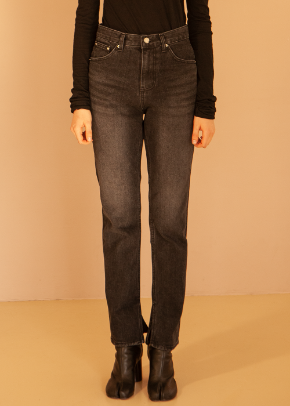Decolor디컬러 Open Inside Denim -Black-