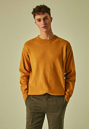 Deans딘스 [DEANS] SOLID REGULAR KNIT_YELLOW