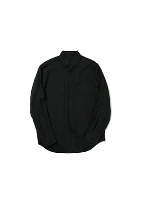 Ballute발루트 2 POCKET TUXEDO B.D SHIRT (BLACK GINGHAM)