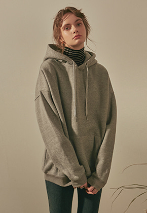 Yan13얀써틴 Y13 EMBROIDERY HOODY_GRAY
