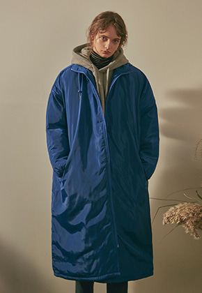 Yan13얀써틴 NORMAL LONG PADDING PARKA_BLUE