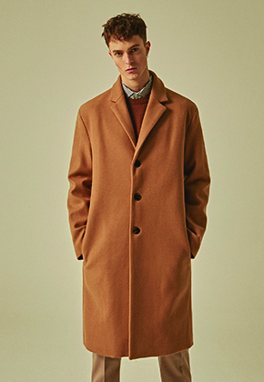 Deans딘스 [DEANS] WOOL REGULAR SINGLE COAT_BEIGE