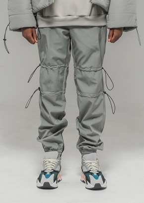 De-Nage드네이지 Hold Out Nylon Fleece Pants GRAY