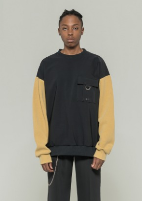 De-Nage드네이지 Washing Over Crewneck MUSTARD