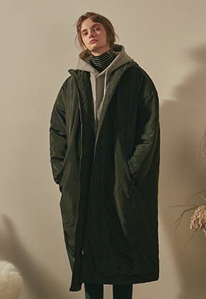 Yan13얀써틴 NORMAL LONG PADDING PARKA_BLACK