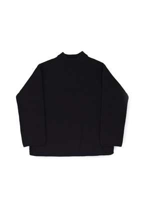 Ballute발루트 FISHERMAN CREWNECK KNIT (BLACK)