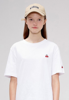 KIRSH키르시 HEART CHERRY T-SHIRTS IS [WHITE]
