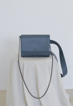 More or Less모어올레스 3-WAY LEATHER BAG - ASH BLUE