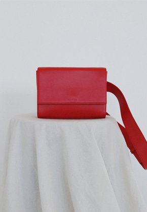 More or Less모어올레스 3-WAY LEATHER BAG - RED