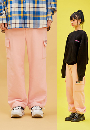 NEONMOON네온문 NEONMOON COTTON POCKET PANTS - PINK