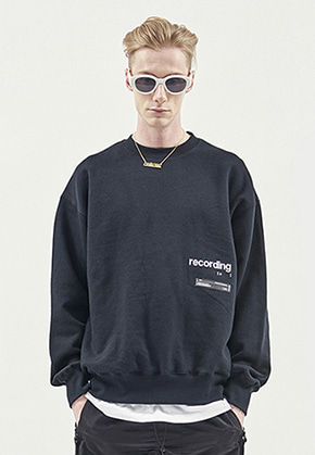 RDVZ RECORDING SWEAT TOP BLACK