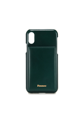 Fennec페넥 LEATHER iPHONE XS POCKET CASE - MOSS GREEN