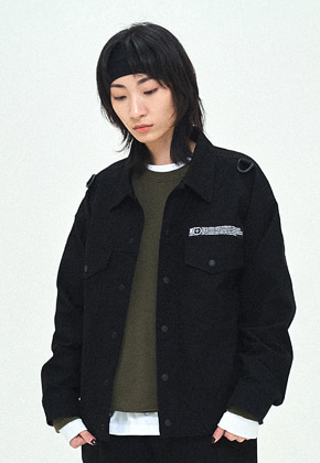 Field Manual필드메뉴얼 UTILITY TRUCKER JACKET black