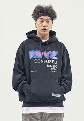 RDVZ THE CONFUSED HOODIE BLACK