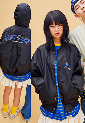 NEONMOON네온문 NEONDUST. WINDBREAKER - BLACK