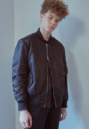 MMGL미니멀가먼츠랩 Bomber jacket (Black/Wine)