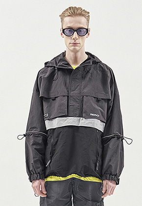RDVZ UTILITY POCKET ANORAK CHARCOAL