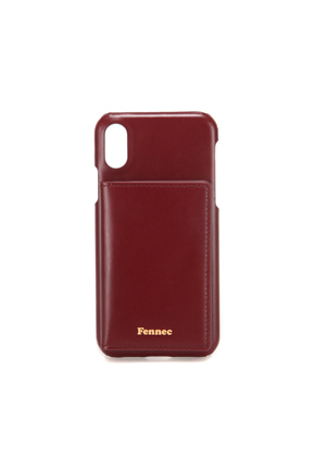 Fennec페넥 (당일발송) LEATHER iPHONE XS POCKET CASE - WINE
