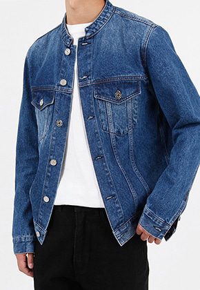Ayoungcompany아영상사 Stand-up Collar Denim Jacket