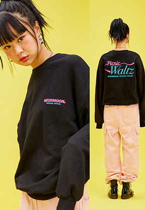 NEONMOON네온문 NEONMOON 19SP SWEAT SHIRT - BLACK