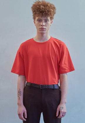 MMGL미니멀가먼츠랩 Semi-oversized t-shirt (Red)