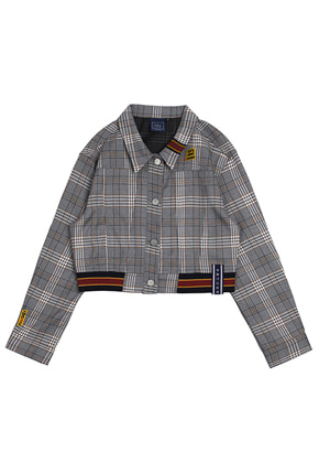 Romantic Crown로맨틱크라운 GNAC Check Jacket_Black