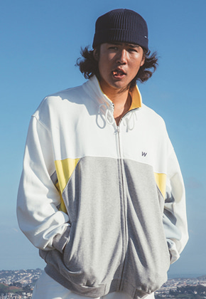 WKNDRS위캔더스 CUTTED TRACK JACKET (YELLOW)