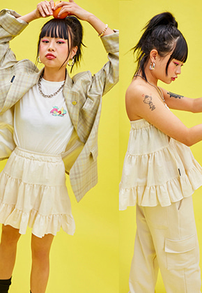 NEONMOON네온문 NEONMOON 19SP CANCAN SKIRT - WHITE
