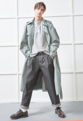 NOHANT노앙 OVERSIZED TRENCH COAT GREEN