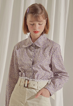 Margarin Fingers마가린핑거스 floral collar shirt