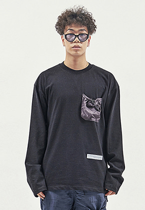 RDVZ STRING POCKET LONG SLEEVE BLACK