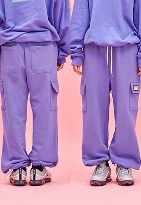 NEONMOON네온문 NEONMOON COTTON POCKET PANTS - PURPLE