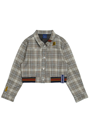 Romantic Crown로맨틱크라운 GNAC Check Jacket_Grey