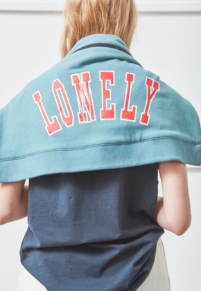 NOHANT노앙 LONELY/LOVELY JERSEY MESSENGER BAG BLUE